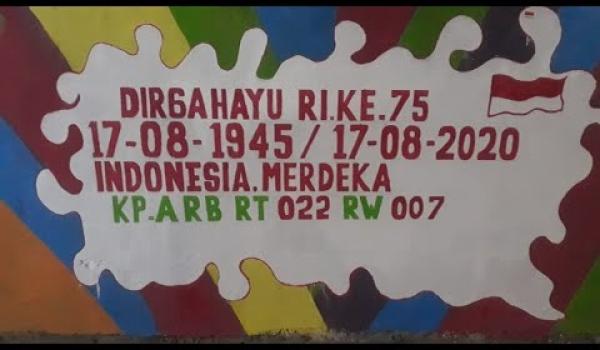 MENYAMBUT HUT RI 75,WARGA KAMPUNG ARB/ALANG BESAR,KEBON CAU