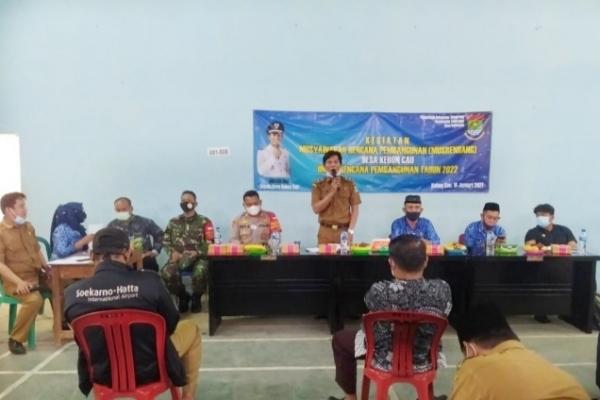 Pemerintah Desa Kebon Cau Gelar Acara (MUSRENBANG) Untuk Rencana Pembangunan Tahun 2022
